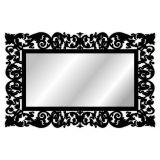 Espelho De Parede  15179P Preto 70x158 Fusi