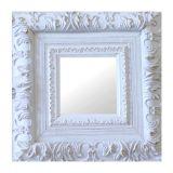 Espelho Moldura Rococó Externo 16171 Branco Patina