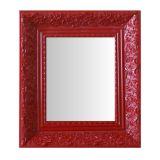 Espelho Moldura Rococó Fundo 16427 Vermelho