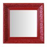 Espelho Moldura Rococó Fundo 16429 Vermelho