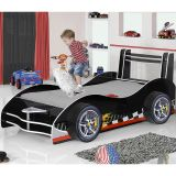Cama Infantil Carro Flash Plus Preto – Gelius Móveis