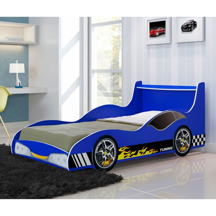 Cama infantil carro tuning azul gelius - Cama coche infantil ...