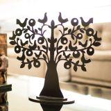 Árvore Decorativa Dois Pássaros Tamanho M Preto Fosco - Geton Concept