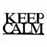 Palavra Decorativa Keep Calm Preto - Geton Concept