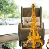 Torre Eiffel Decorativa Tamanho P TE01 Amarelo - Geton Concept