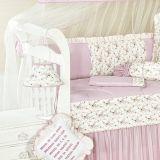 Abajur Bela Para Quarto de Bebê 01 Peça - Rosa/Floral