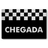 Tapete Capacho Personalizado de Porta Chegada - Preto