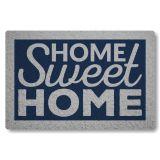 Tapete Capacho Personalizado de Porta Home Sweet Home II - Azul Marinho