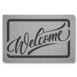 Tapete Capacho Personalizado de Porta Welcome - Prata