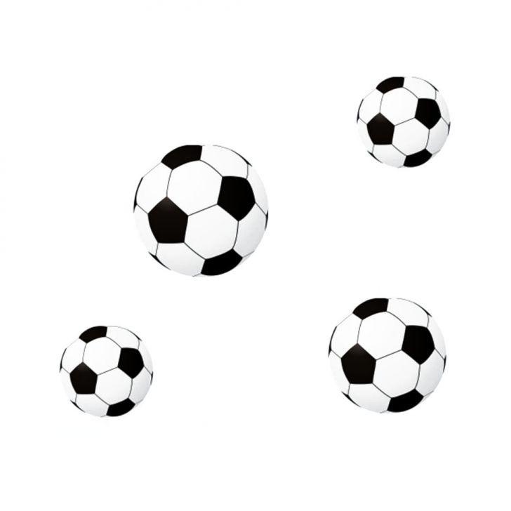 Adesivo de Parede Bola Futebol Preto Grudado Adesivos