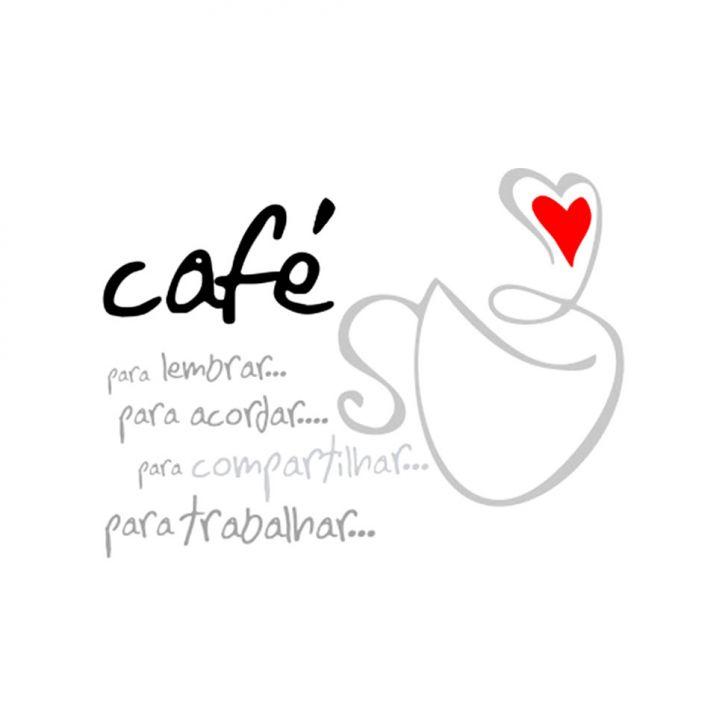 Adesivo de Parede Dolce Café Preto Grudado Adesivos
