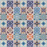 Adesivo de Parede Mix Azulejos Coloniais 15x15 - Grudado Adesivos