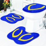 Jogo de Banheiro Formato Chinelo 03 Peças - Azul Royal