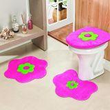 Jogo de Banheiro Formato Margarida 03 Peças - Pink