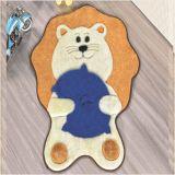 Tapete Formatos Baby Leão 82cm x 64cm - Azul Royal