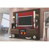 Estante Home Theater  para Tvs 42 Polegadas Domus - Capuccino/Vermelho