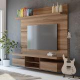 Painéis para TV Livin 1.8 Macchiato Texture Alto Relevo HB Móveis