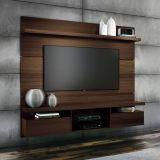 Painéis para TV Livin 1.8 Mocaccino Texture Alto Relevo HB Móveis