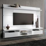 Painéis para TV Livin 2.2 Branco Alto Brilho HB Móveis