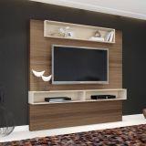 Painel Para TV Suspenso Ággio 1.8 Macchiato e Naturale Textura Alto Relevo HB Móveis