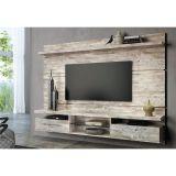 Painel Para TV com Bancada Suspensa Livin 2.2 HB Móveis - Areia