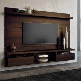 Painel para TV Livin 2.2 Mocaccino Texture Alto Relevo HB Móveis