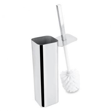 Escova Sanitária com Suporte Inox Prata Hércules BA50 - 001