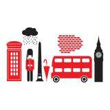 Adesivo De Parede Londres 95X51  Haus for Fun
