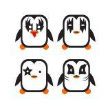 Adesivo De Parede Pinguim Kiss 24X24  Haus for Fun