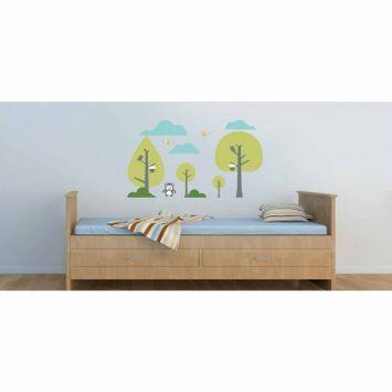 Adesivo de Parede Árvore Infantil 16 102x63 cm Haus For Fun Haus For Fun Adesivo de Parede Árvore Green I