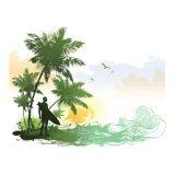 Adesivo de Parede Cenário Surf 60x47 cm Haus For Fun
