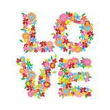 Adesivo de Parede Love Flores 80x90 cm Haus For Fun