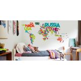 Adesivo de Parede Worlds In Words 146x96 cm Haus For Fun