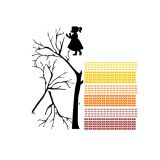 Adesivo de Parede menina com Árvore 21 96x94 Haus For Fun