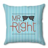 Capa De Almofada Mr. Right 40x40 Haus For Fun