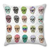 Capa De Almofada Skulls 40x40 Haus For Fun