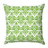 Capa de Almofada Arabescos Verdes Com Fundo Branco 40x40 Haus For Fun