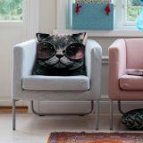 Capa de Almofada Gato de Oculos 40X40