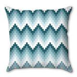 Capa de Almofada Geométrico Azul 40x40