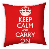 Capa de Almofada Keep Calm 40x40 cm Haus For Fun
