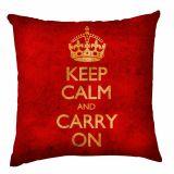 Capa para Almofada Keep Calm Envelhecido 40x40 cm Haus For Fun