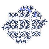 Jogo Americano Azul Marinho Português  Haus For Fun