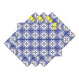 Jogo Americano Português Azul E Amarelo  Haus For Fun