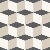 Ladrilho 2D Geométrico Cubos Cinza Preto 10x10