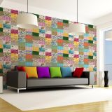 Ladrilho Adesivo Magic Tiles Mix de Ladrilhos  Floral II Pack com 25 Peças 15X15