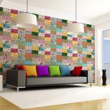 Ladrilho Adesivo Magic Tiles Mix de Ladrilhos  Floral III Pack com 25 Peças 20X20