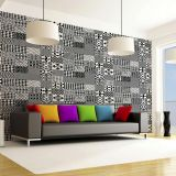 Ladrilho Adesivo Magic Tiles Mix de Ladrilhos  Geometrico II Pack com 25 Peças 15X15