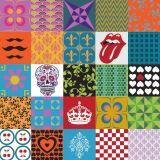 Ladrilho Adesivo Mix Colorido Divertido Colorido 15x15 Haus for Fun