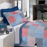 Cobre leito Casal Bouti PatchBoy com Porta Travesseiros - Hedrons