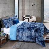 Cobre leito King Peles Tye Dye Azul com Porta Travesseiros - Hedrons